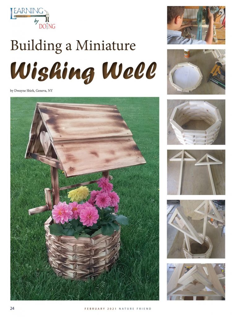 Building a Miniature Wishing Well flower planter